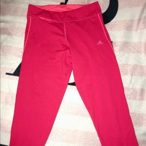 Hot Pink Adidas cropped leggings 💗